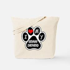 I Love My German Shepherd Tote Bag