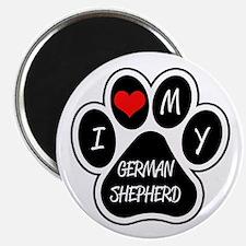 I Love My German Shepherd Magnet