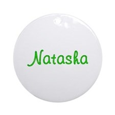 Natasha Glitter Gel Round Ornament