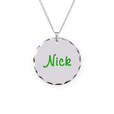 Nick Glitter Gel Necklace Circle Charm