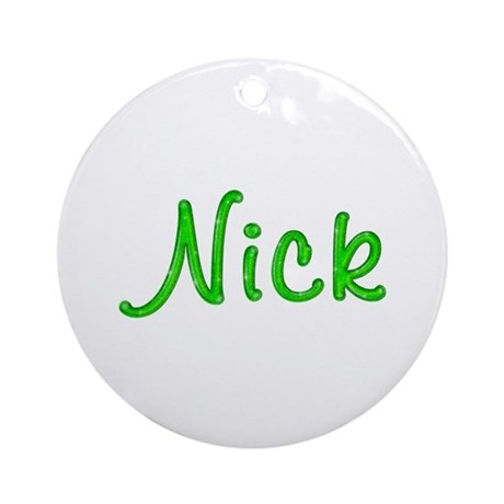 Nick Glitter Gel Round Ornament