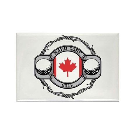 Canada Golf Rectangle Magnet (100 pack)