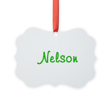 Nelson Glitter Gel Picture Ornament