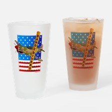 Military Scuba Fighters Drinking Glass