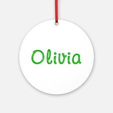 Olivia Glitter Gel Round Ornament