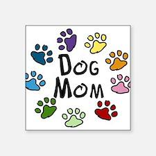 """Dog Mom Square Sticker 3"""" x 3"""""""