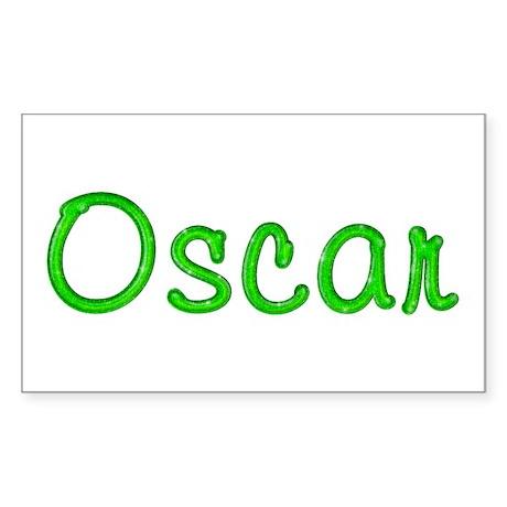 Oscar Glitter Gel Rectangle Sticker