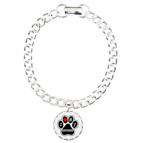 I Love My Dachshund Charm Bracelet, One Charm