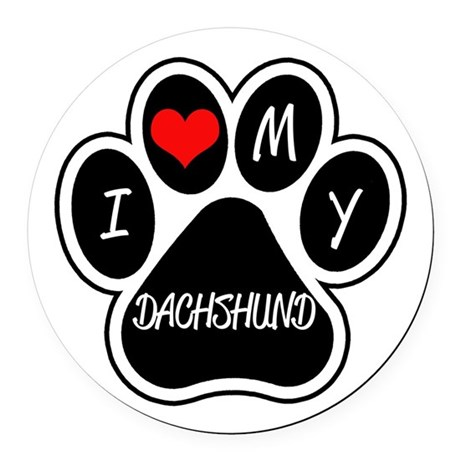 I Love Dachshunds I Love My Dachshund Round Car