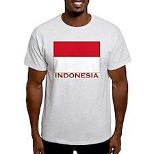 Flag of Indonesia Ash Grey T-Shirt