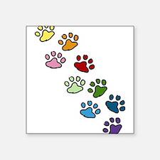"""Paw Prints Square Sticker 3"""" x 3"""""""