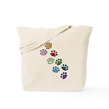 Paw Prints Tote Bag