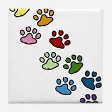 Paw Prints Tile Coaster
