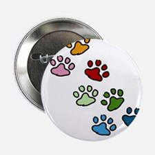 "Paw Prints 2.25"" Button"