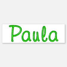 Paula Glitter Gel Bumper Bumper Bumper Sticker