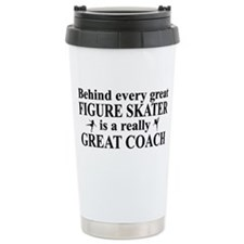 Cute Ice skate Stainless Steel Travel Mug