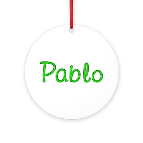 Pablo Glitter Gel Round Ornament
