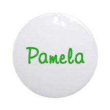 Pamela Glitter Gel Round Ornament