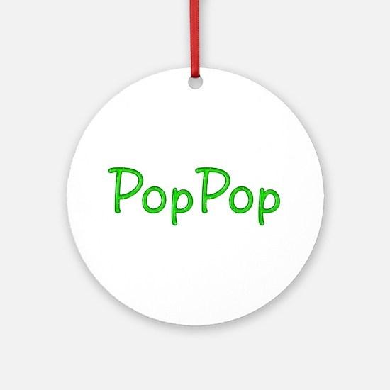 PopPop Glitter Gel Round Ornament