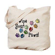 Wipe Your Paws Tote Bag