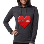 hugme.png Womens Hooded Shirt