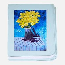Yellow Flowers baby blanket