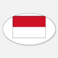Indonesia Flag Picture Oval Decal