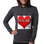 hugme-heart.jpg Womens Hooded Shirt