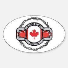 Canada Boxing Oval Decal