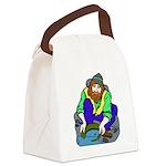 Miner Man Canvas Lunch Bag