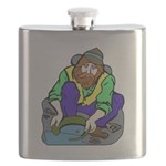 Miner Man Flask