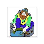 Miner Man Square Sticker 3