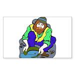Miner Man Sticker (Rectangle 10 pk)