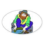 Miner Man Sticker (Oval)