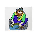 Miner Man Throw Blanket