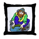 Miner Man Throw Pillow