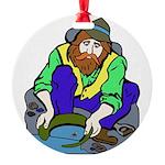 Miner Man Round Ornament