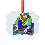 Miner Man Picture Ornament