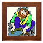 Miner Man Framed Tile