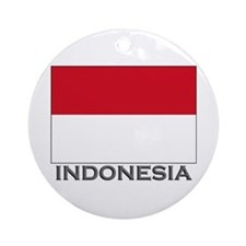 Indonesia Flag Stuff Ornament (Round)