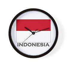 Indonesia Flag Stuff Wall Clock