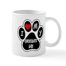 I Love My Chocolate Lab Mug