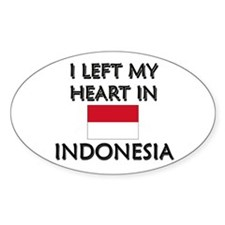 I Left My Heart In Indonesia Oval Decal