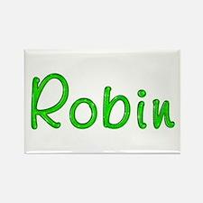 Robin Glitter Gel Rectangle Magnet