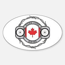 Canada Biking Oval Decal