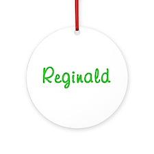 Reginald Glitter Gel Round Ornament