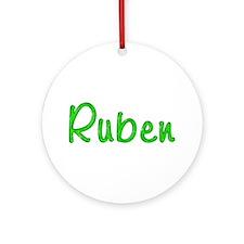 Ruben Glitter Gel Round Ornament