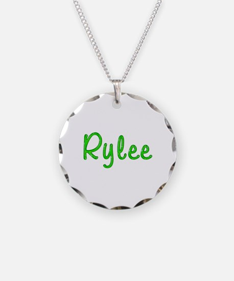 Rylee Glitter Gel Necklace Circle Charm