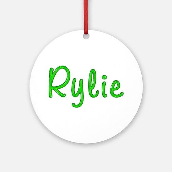 Rylie Glitter Gel Round Ornament