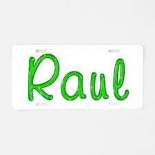 Raul Glitter Gel Aluminum License Plate